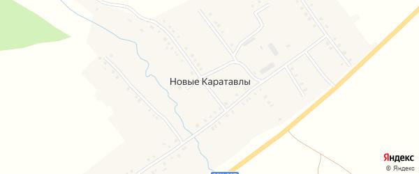 Центральная улица на карте деревни Новые Каратавлы с номерами домов