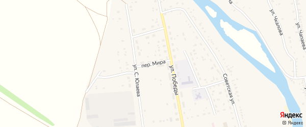 Переулок Мира на карте села Татыра-Узяка с номерами домов
