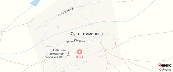 Дорожная улица на карте деревни Султантимирово с номерами домов