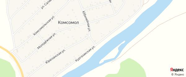 Юбилейная улица на карте деревни Комсомола с номерами домов