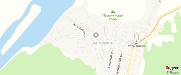 Улица Вострецова на карте Усть-Катава с номерами домов