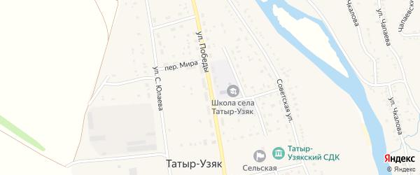 Улица Победы на карте села Бурибая с номерами домов