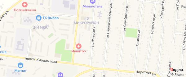 Улица Некрасова на карте Усть-Катава с номерами домов