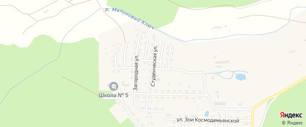 Студенческая улица на карте Катава-Ивановска с номерами домов