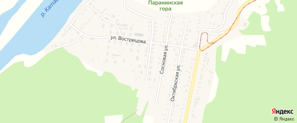 Весенняя улица на карте Усть-Катава с номерами домов