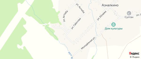 Улица Габитова на карте села Азналкино с номерами домов