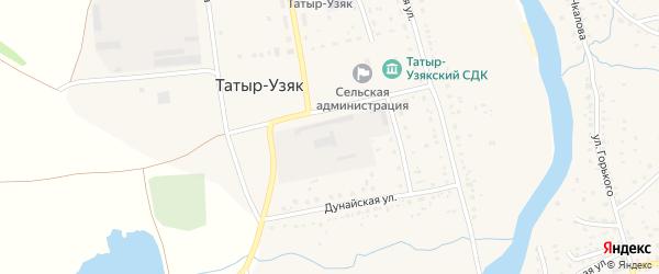Улица Кусимова на карте села Татыра-Узяка с номерами домов
