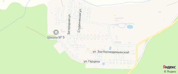 Загородная улица на карте Катава-Ивановска с номерами домов