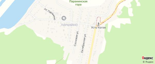 КС Вагоностроитель-2 Сосновая улица на карте Усть-Катава с номерами домов