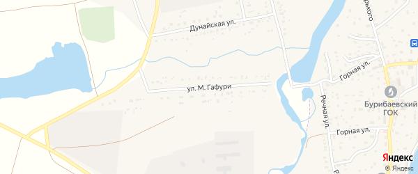 Улица М.Гафури на карте села Татыра-Узяка с номерами домов