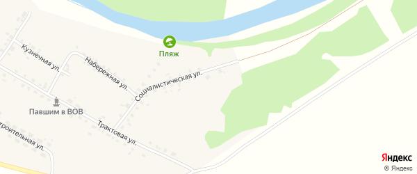Социалистическая улица на карте села Алегазово с номерами домов