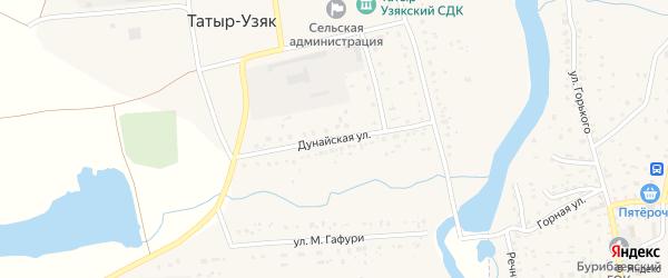 Дунайская улица на карте села Татыра-Узяка с номерами домов