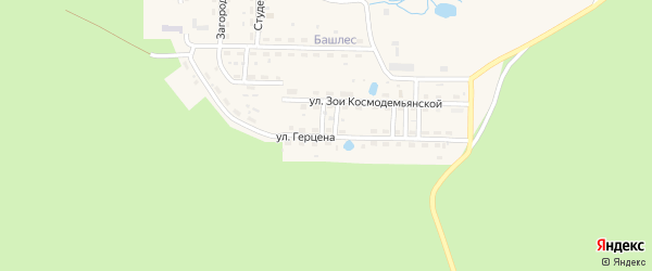 Улица Герцена на карте Катава-Ивановска с номерами домов
