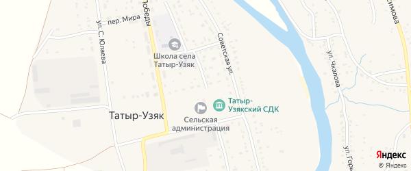 Улица А.Матросова на карте села Татыра-Узяка с номерами домов