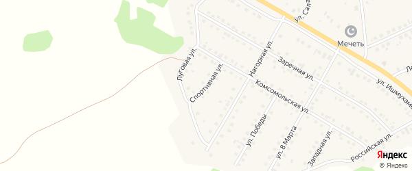Спортивная улица на карте села Малояза с номерами домов