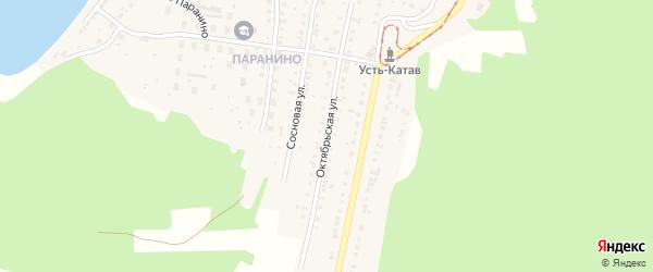 Октябрьская улица на карте Усть-Катава с номерами домов