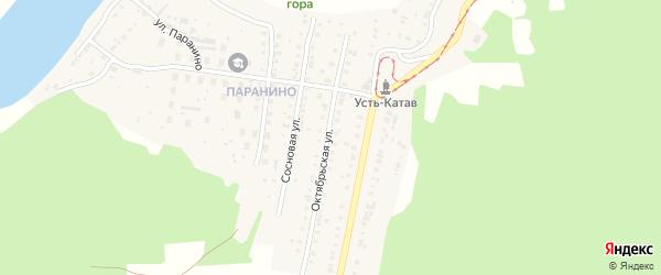 Октябрьская улица на карте железнодорожной станции Минки с номерами домов