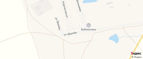 Улица Дружбы на карте села Степного с номерами домов