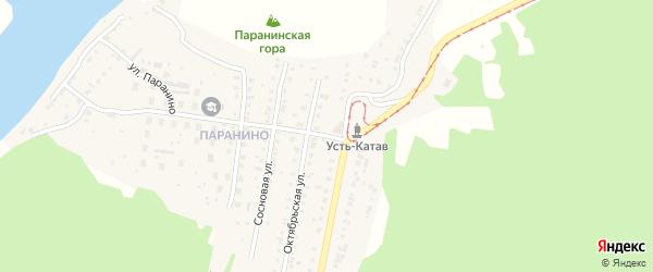 Лесная улица на карте села Минки с номерами домов