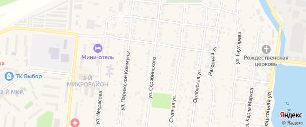 Улица Скрябинского на карте Усть-Катава с номерами домов