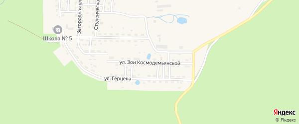 Улица Зои Космодемьянской на карте Катава-Ивановска с номерами домов
