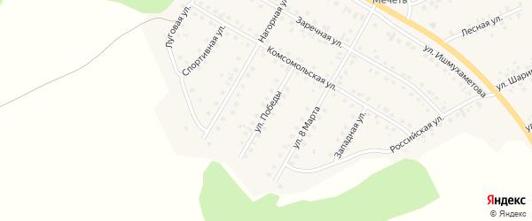 Улица Победы на карте села Малояза с номерами домов