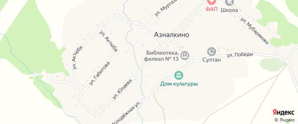 Улица Арслана Мубарякова на карте села Азналкино с номерами домов