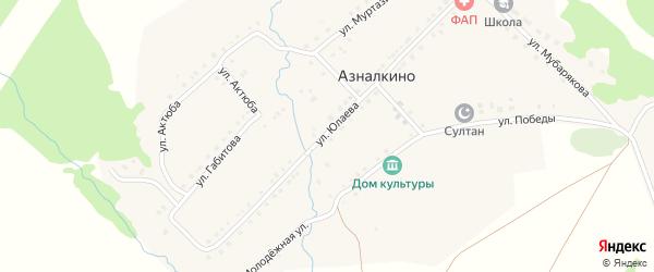 Полевая улица на карте села Азналкино с номерами домов