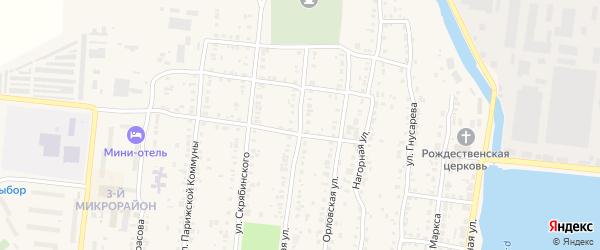 Степная улица на карте Усть-Катава с номерами домов