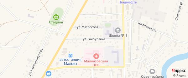 Улица Гайфуллина на карте села Малояза с номерами домов