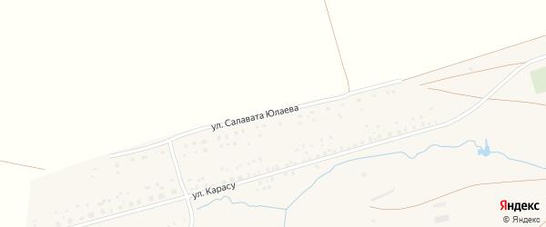 Улица Салавата Юлаева на карте села Степного с номерами домов