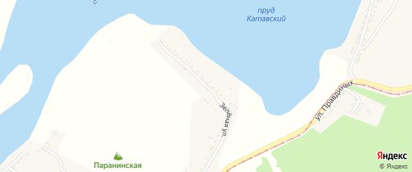 Зеленая улица на карте Усть-Катава с номерами домов