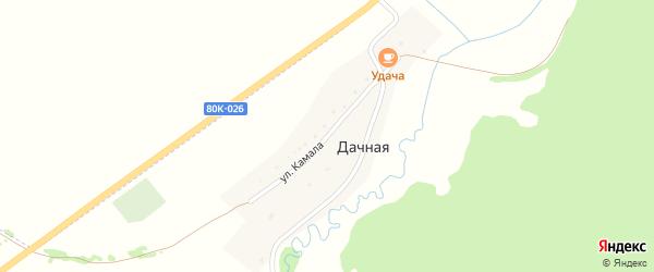 Улица Камала на карте Дачной деревни с номерами домов