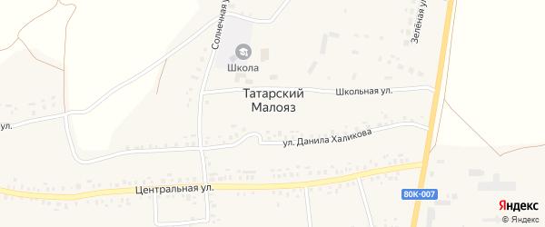 Садовая улица на карте села Татарского Малояза с номерами домов