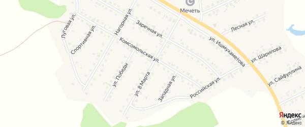 Улица 8 Марта на карте села Малояза с номерами домов