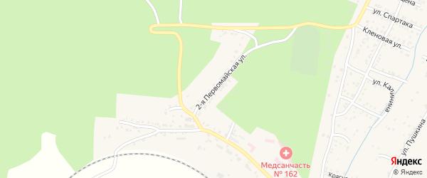Первомайская 2-я улица на карте Усть-Катава с номерами домов