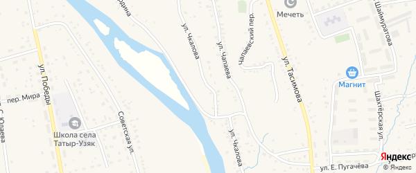 Улица Чкалова на карте села Бурибая с номерами домов