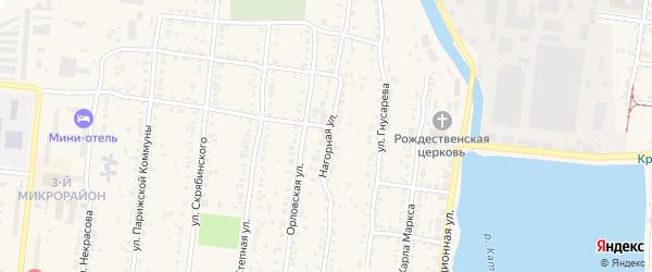 Нагорная улица на карте села Минки с номерами домов