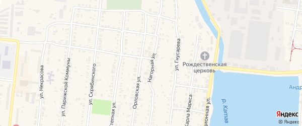 Нагорная улица на карте Усть-Катава с номерами домов
