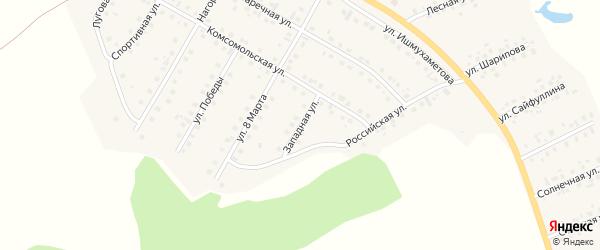 Западная улица на карте села Малояза с номерами домов