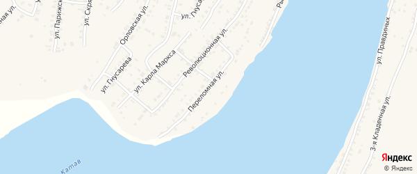 Переломная улица на карте Усть-Катава с номерами домов