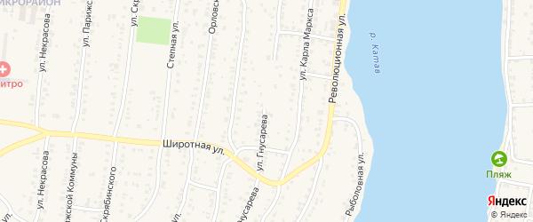 Улица Гнусарева на карте Усть-Катава с номерами домов