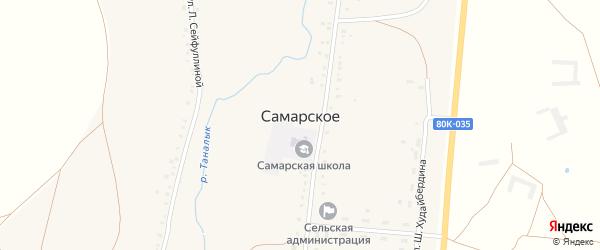 Лесхозная улица на карте Самарского села с номерами домов