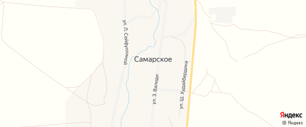 Карта Самарского села в Башкортостане с улицами и номерами домов