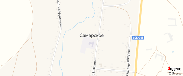 Улица Шайхзады Бабича на карте Самарского села с номерами домов