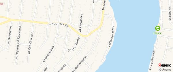 Улица Карла Маркса на карте Усть-Катава с номерами домов