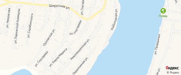 Революционная улица на карте Катава-Ивановска с номерами домов