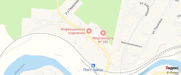 Первомайская улица на карте Усть-Катава с номерами домов