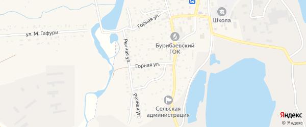 Горная улица на карте села Бурибая с номерами домов