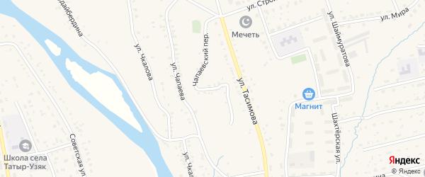 Чапаевский переулок на карте села Бурибая с номерами домов